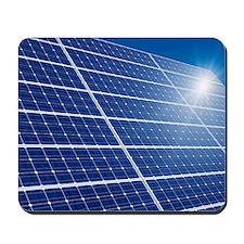 Solar panels in the sun Mousepad