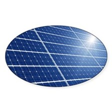 Solar panels in the sun Decal