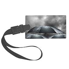 Wet umbrellas, composite image Luggage Tag