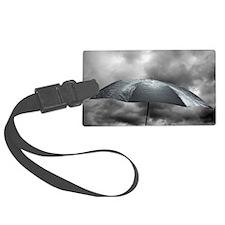 Wet umbrella, composite image Luggage Tag