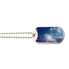 Solar panels in the sun Dog Tags