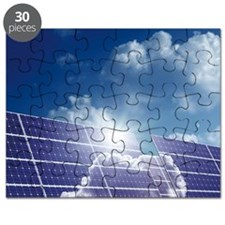 Solar panels in the sun Puzzle