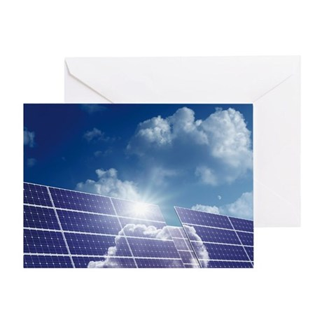 Solar panels in the sun Greeting Card