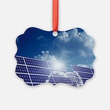 Solar panels in the sun Ornament
