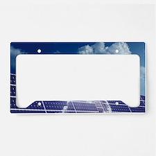 Solar panels in the sun License Plate Holder