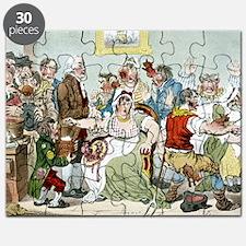 Smallpox vaccination, satirical artwork Puzzle