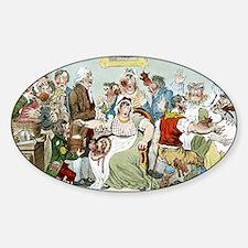 Smallpox vaccination, satirical art Sticker (Oval)