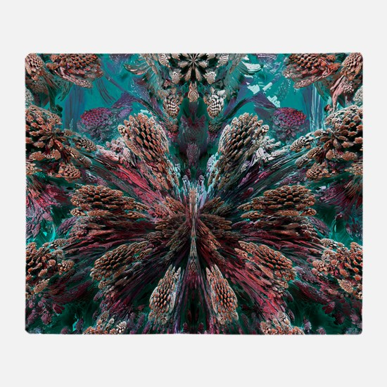 Mandelbulb fractal Throw Blanket