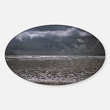 Waves on beach Sticker (Oval)