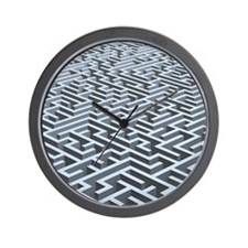 Maze, artwork Wall Clock