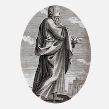 Socrates, greek philosopher Oval Ornament