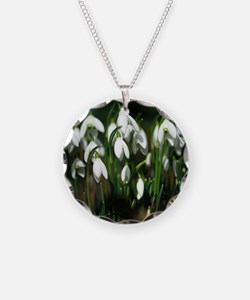 Snowdrops (Galanthus sp.) Necklace