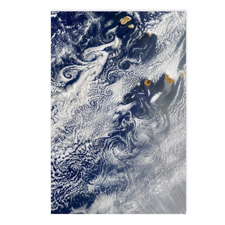 Von Karman vortices, Cape Postcards (Package of 8)
