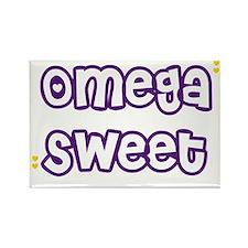 Omega Sweet Hearts Rectangle Magnet