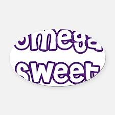 Omega Sweet Hearts Oval Car Magnet