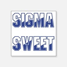 "Sigma Sweet Two-tone Square Sticker 3"" x 3"""