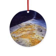 Volcanic sulphur deposits Round Ornament