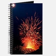 Volcano at night Journal