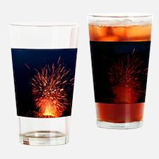 Volcano at night Drinking Glass