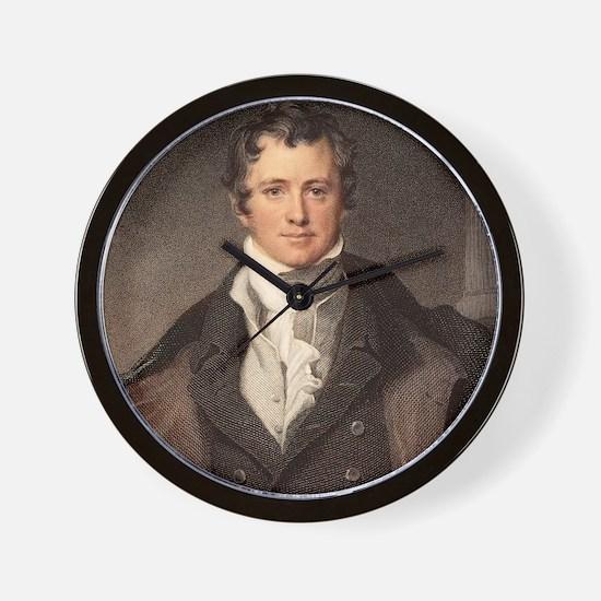 Sir Humphry Davy portrait chemis Wall Clock