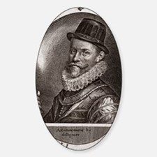 Sir John Hawkins, English adventure Sticker (Oval)