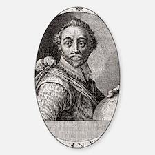 Sir Francis Drake, English adventur Decal