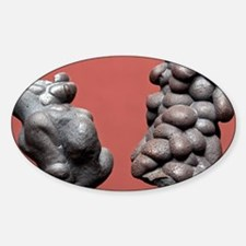 Slag from a metalworks Sticker (Oval)