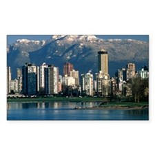 View of Vancouver, Canada Bumper Stickers