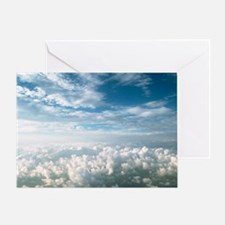 View of stratocumulus clouds over cu Greeting Card