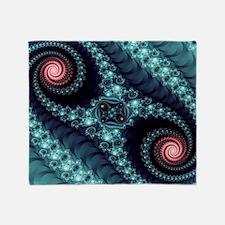 Mandelbrot fractal Throw Blanket