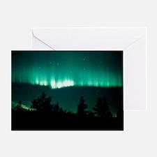 View of an aurora borealis display Greeting Card