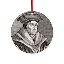 Sir Thomas More, English statesman Round Ornament