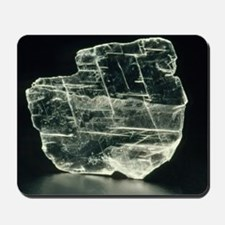 View of a sample of selenite, a form of  Mousepad