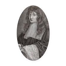 Sir Isaac Newton Oval Car Magnet
