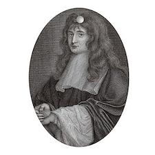 Sir Isaac Newton Oval Ornament
