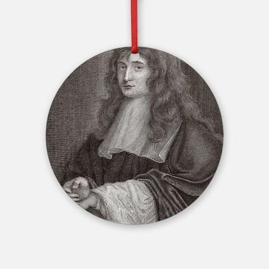 Sir Isaac Newton Round Ornament