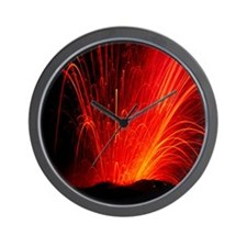 Volcanic eruption Wall Clock