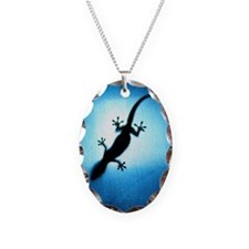 Silhouetted gecko Necklace