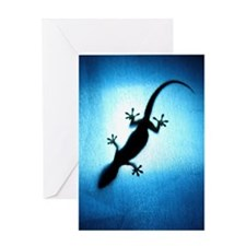 Silhouetted gecko Greeting Card
