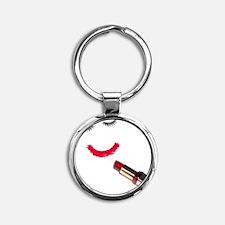 Make up Round Keychain