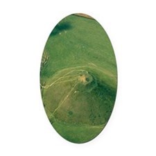 Silbury Hill, Wiltshire, UK Oval Car Magnet