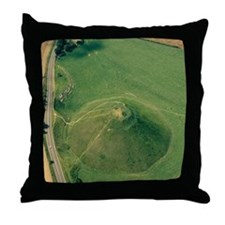 Silbury Hill, Wiltshire, UK Throw Pillow