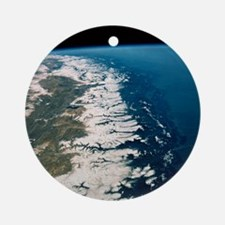 View of Nepal from Space Shuttle 61 Round Ornament