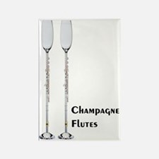 Champagne Flutes Rectangle Magnet