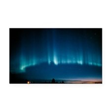 View of a spectacular aurora  Rectangle Car Magnet