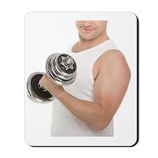 Lifting weights Mousepad