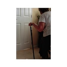 Using a walking stick Rectangle Magnet