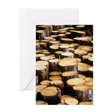 Logs Greeting Card