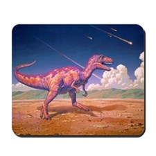 Tyrannosaurus rex with meteorites Mousepad