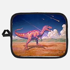 Tyrannosaurus rex with meteorites Potholder